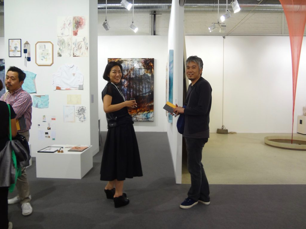 Gallery owner NINAGAWA Atsuko + artist MORITA Hiroaki @ TAKE NINAGAWA Gallery, ART BASEL 2015