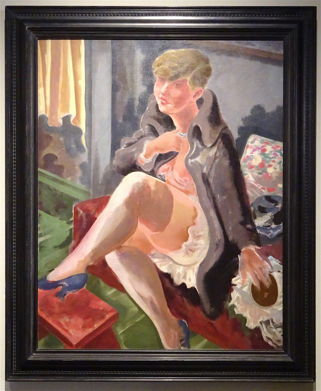 "George Grosz ""Seated Girl (Lotte Schmalhausen)"" 1928 100 x 79.5 cm @ Richard Nagy"