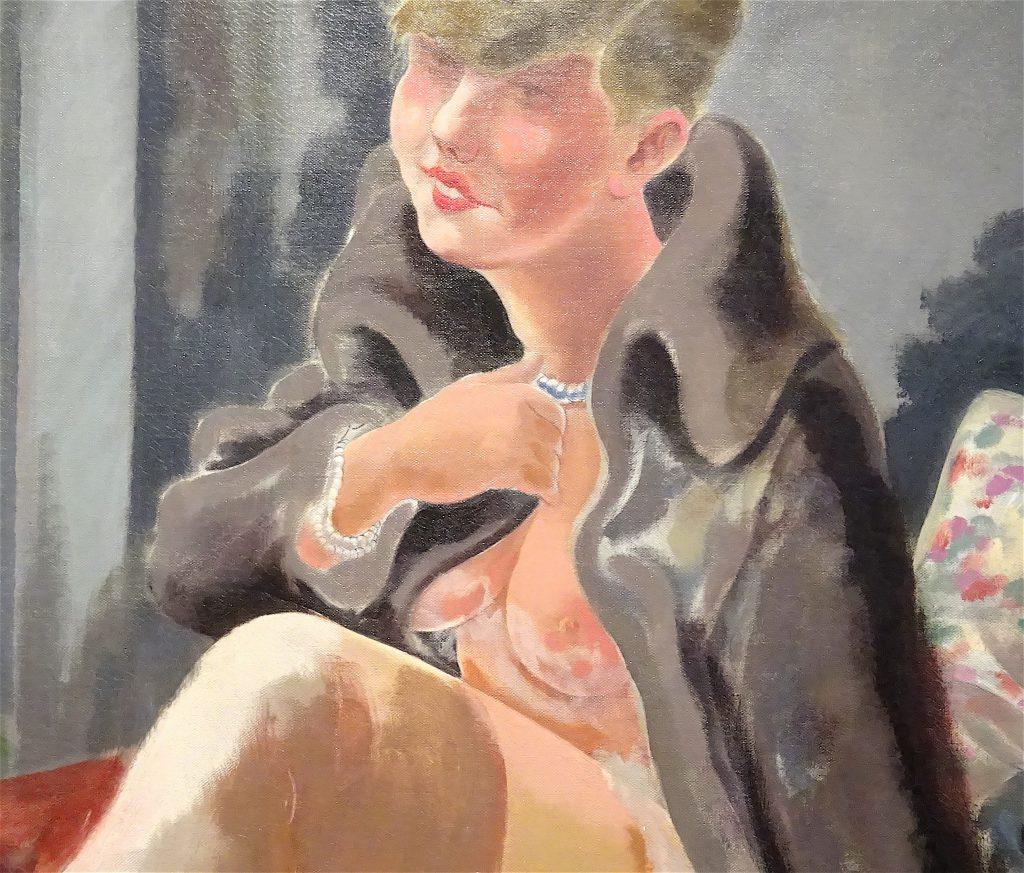 """George Grosz """"Seated Girl (Lotte Schmalhausen)"""" 1928, detail"""