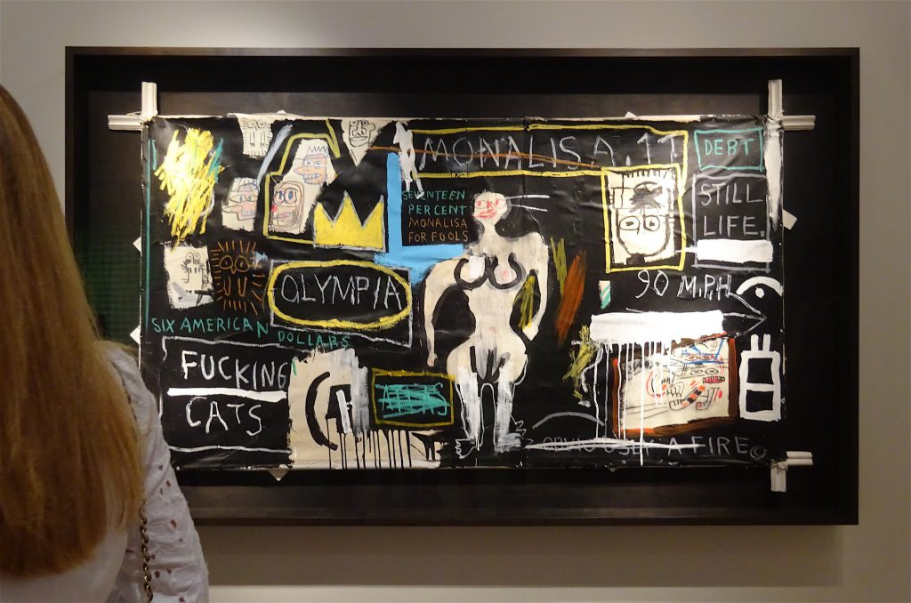 "Jean-Michel Basquiat ""Crown Hotel (Mona Lisa Black Background)"" 1982 @ Lévy Gorvy"
