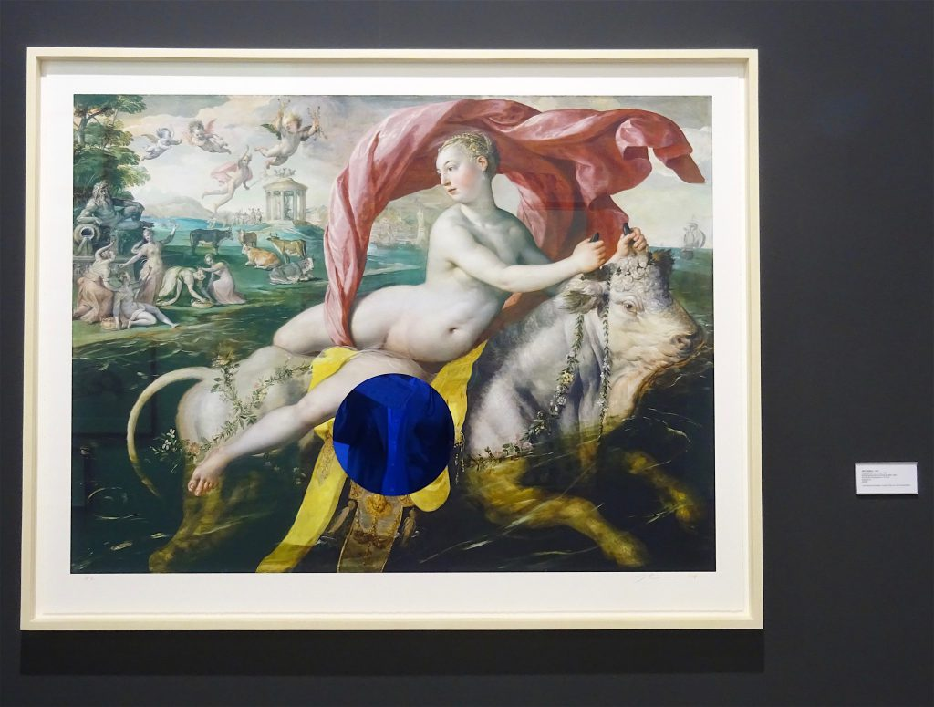 "Jeff Koons ""Gazing Ball (de Vos Europa) 2018, Archival pigment print on Innova rag paper, glass, 92.4 x 117.5 cm, Edition 20 @ Two Palms"
