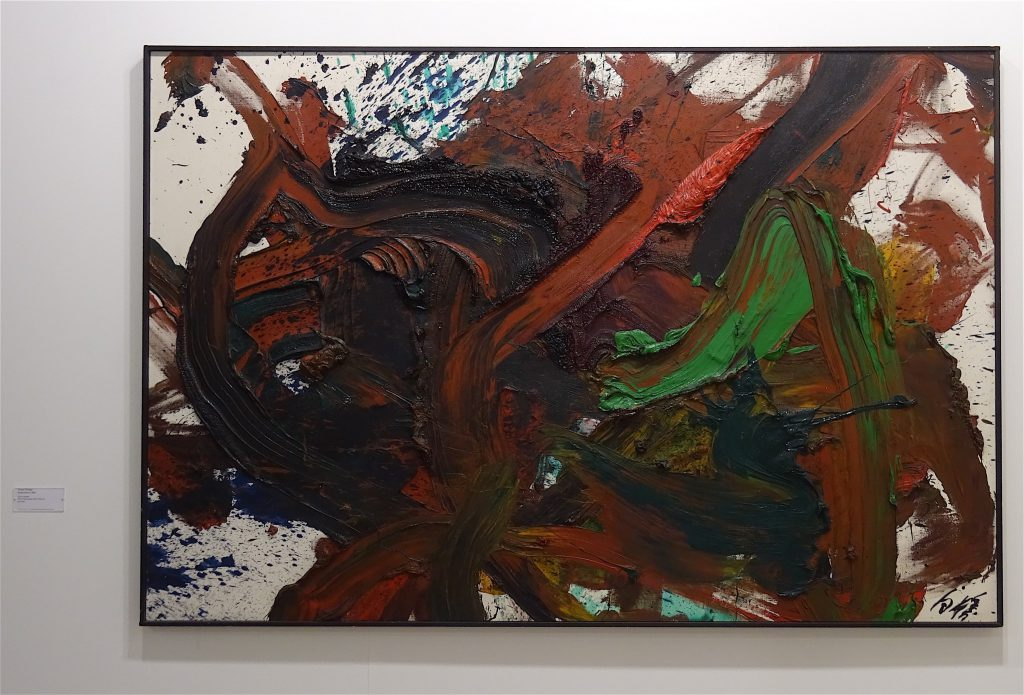 "Kazuo Shiraga ""Kyoka Kenro"" 1982, Oil on canvas, 130 x 195 cm @ Fergus McCaffrey booth Art Basel 2018"