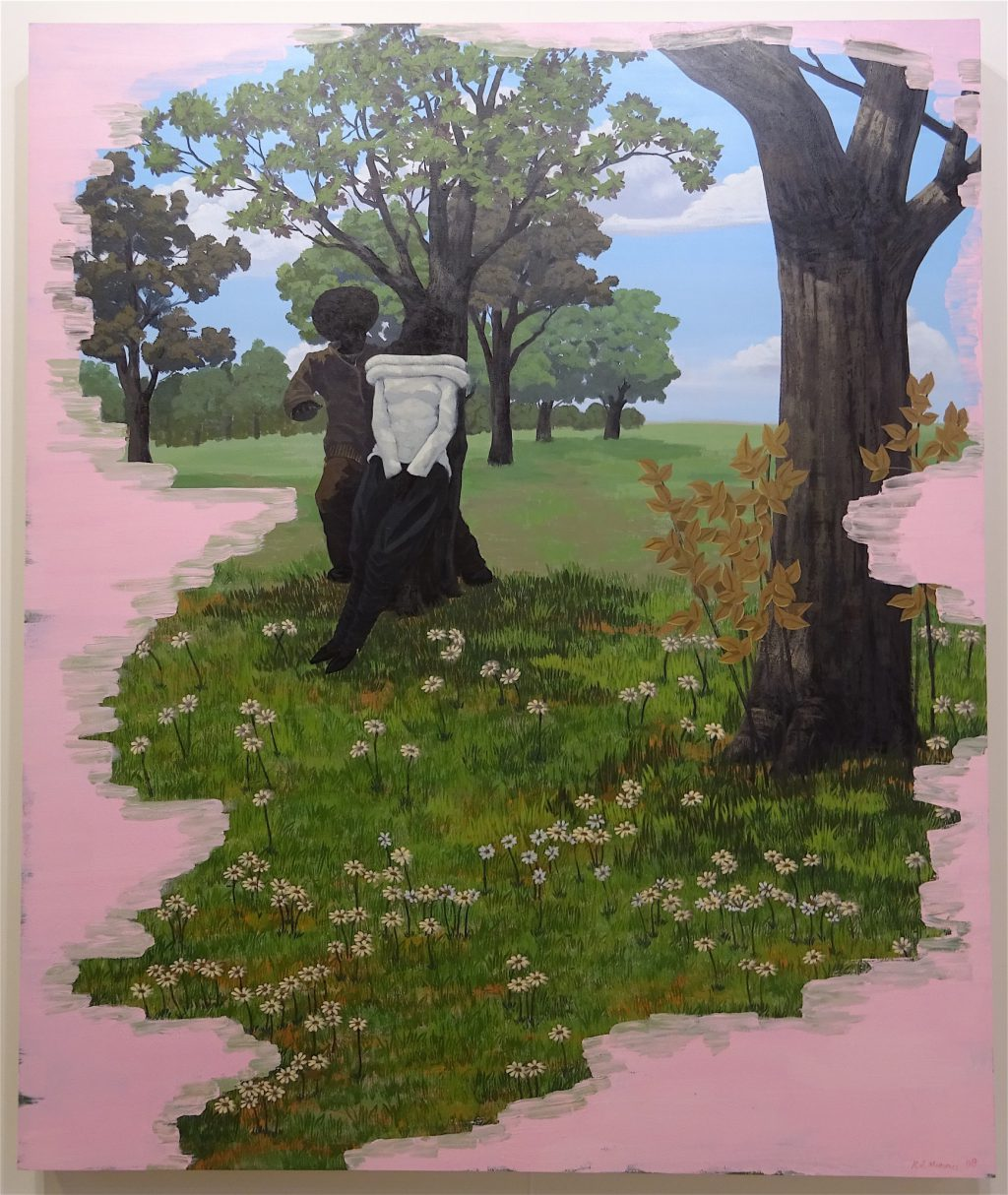 "Kerry James Marshall ""Vignette #12"" 2008, Acrylic on PVC panel, 182.2 x 152.4 cm @ David Zwirner"