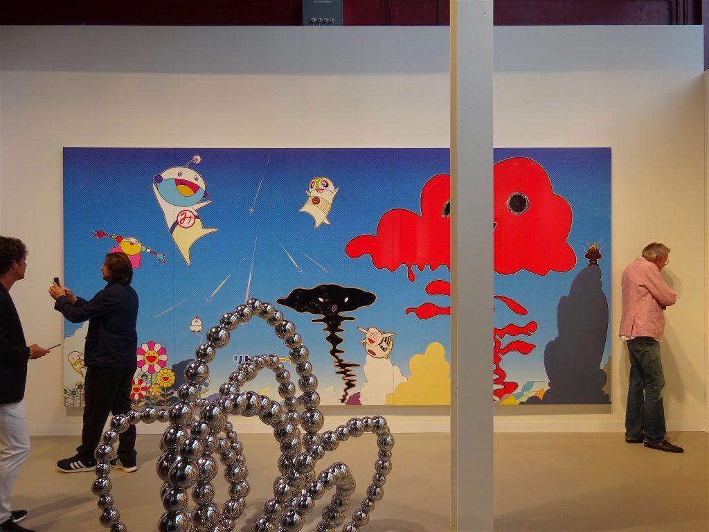 MURAKAMI Takashi 村上隆 Eco Eco Rangers Earth Environmental Force, 2017, Acrylic on canvas, 250 x 525 cm, unique, Galerie Perrotin