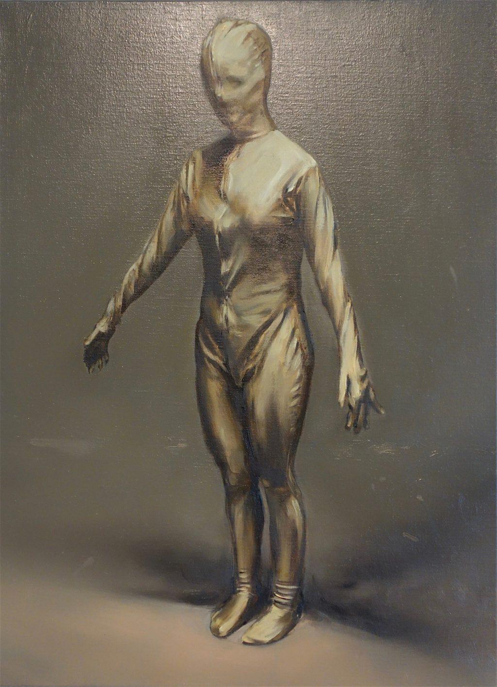 """Michaël Borremans """"Molly"""" 2018, oil on canvas"""