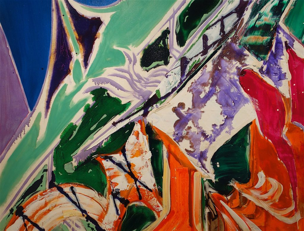 NAKAMURA Kazumi 中村一美 「連差ー破房 (柿色のファサード)」1995年、油彩・綿布、171×177.5cm、部分