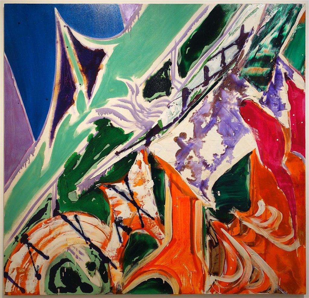 NAKAMURA Kazumi 中村一美 「連差ー破房 (柿色のファサード)」1995年、油彩・綿布、171×177.5cm