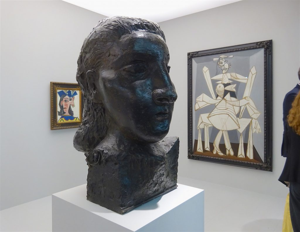 """Pablo Picasso """"Head of a Woman (Dora)"""" 1941, Bronze, Beyeler Collection"""
