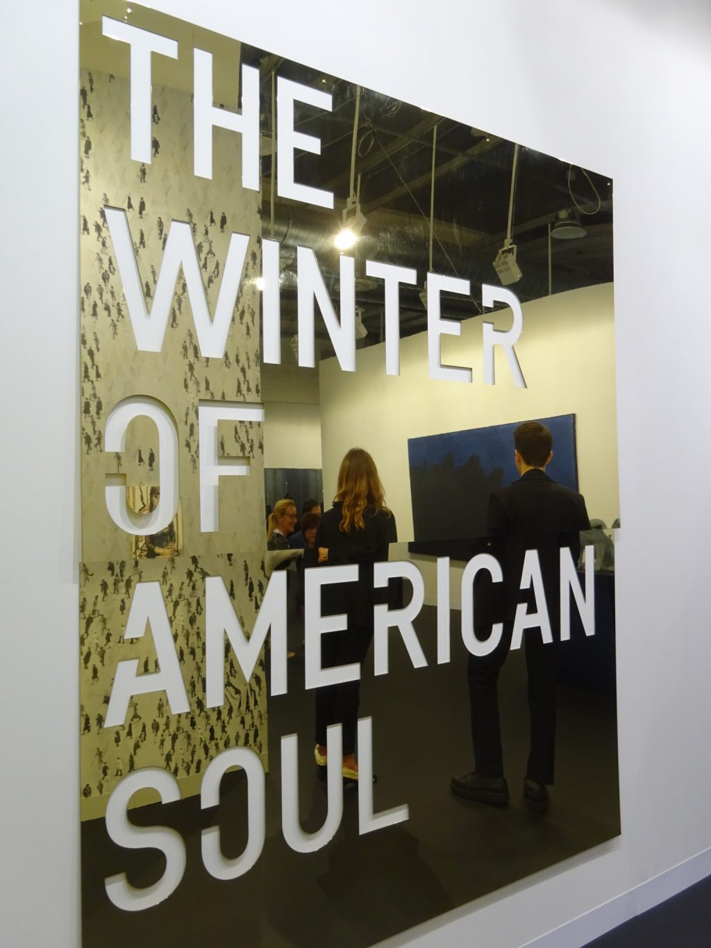 """Rirkrit Tiravanija """"untitled 2018 (the winter of american soul)"""" 2018, Polished brass, 226.7 x 186.1 overall, Edition of 2 with 1 AP @ Gavin Brown Enterprise"""