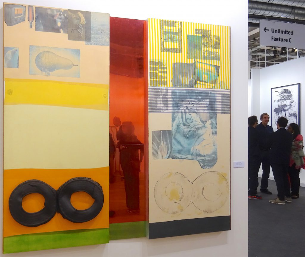 "Robert Rauschenberg ""Ruby Re-Run (Spread)"" 1978, mixed media, 214,6 x 224,8 x 14 cm Galerie Thaddaeus Ropac"