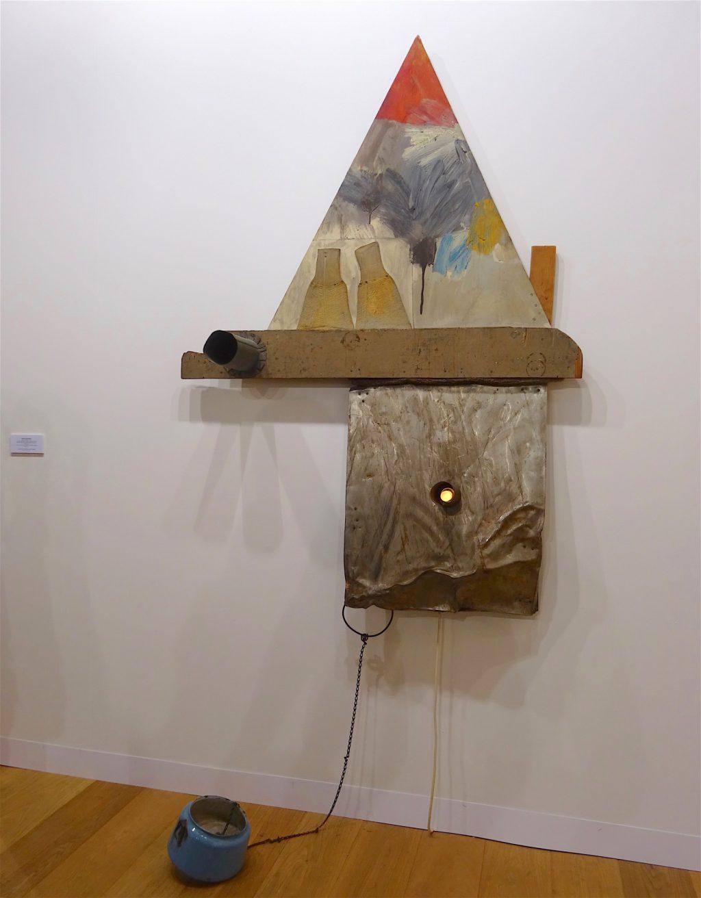 "Robert Rauschenberg ""Slug (Combine)"" 1961, mixed media, 170,2 x 121,9 x 25,1 cm Galerie Thaddaeus Ropac"