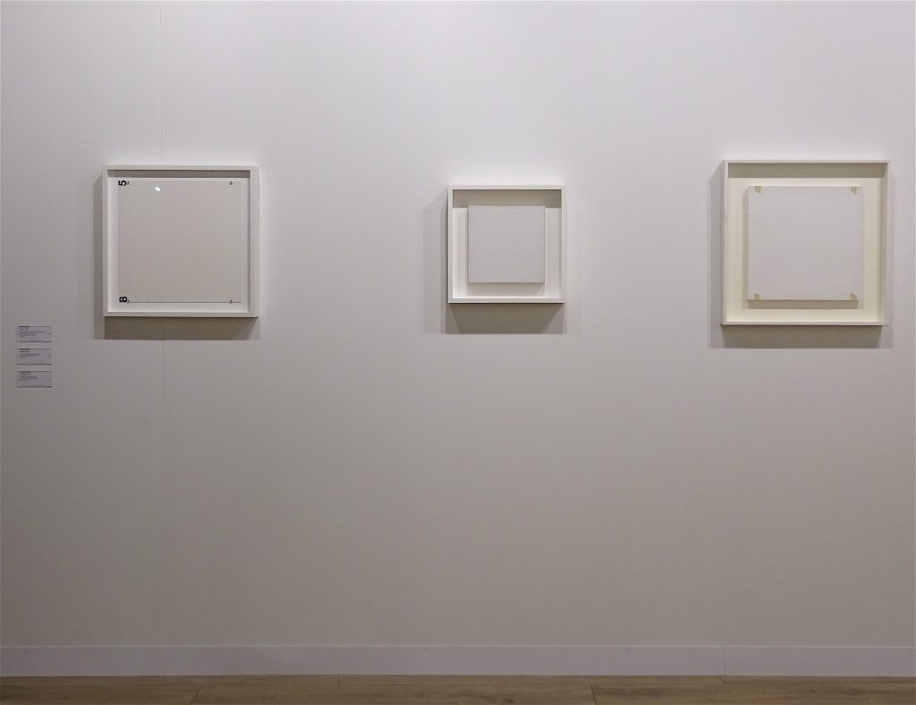 "Robert Ryman ""Section"" 1985, ""Untitled"" 1965, ""Untitled"" 1969 @ Fergus McCaffrey"
