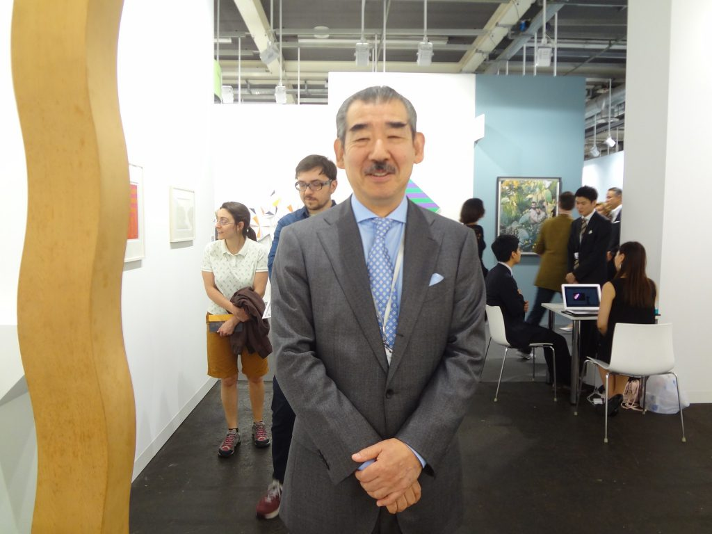 TOKYO GALLERY+BTAP co-owner TABATA Yukihito during ART BASEL 2015