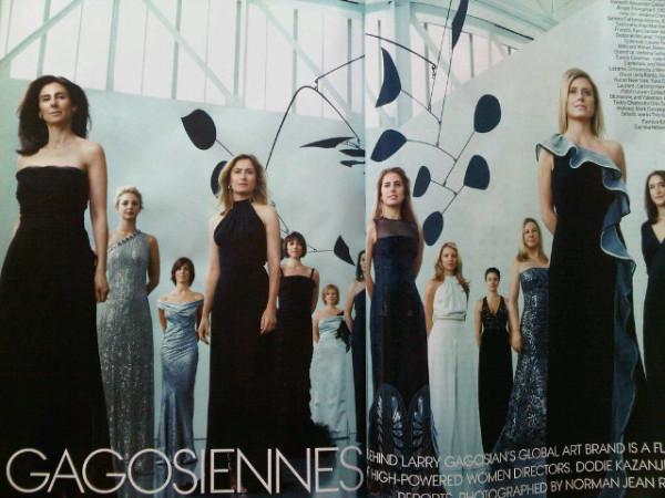 The Women of Larry Gagosian @ VOGUE