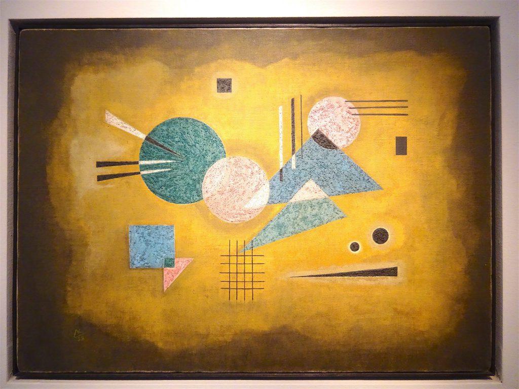 "Wassily Kandinsky ""Verschmelzendes Rosa"" 1928, Oil on canvas, 40.5 x 56 cm"