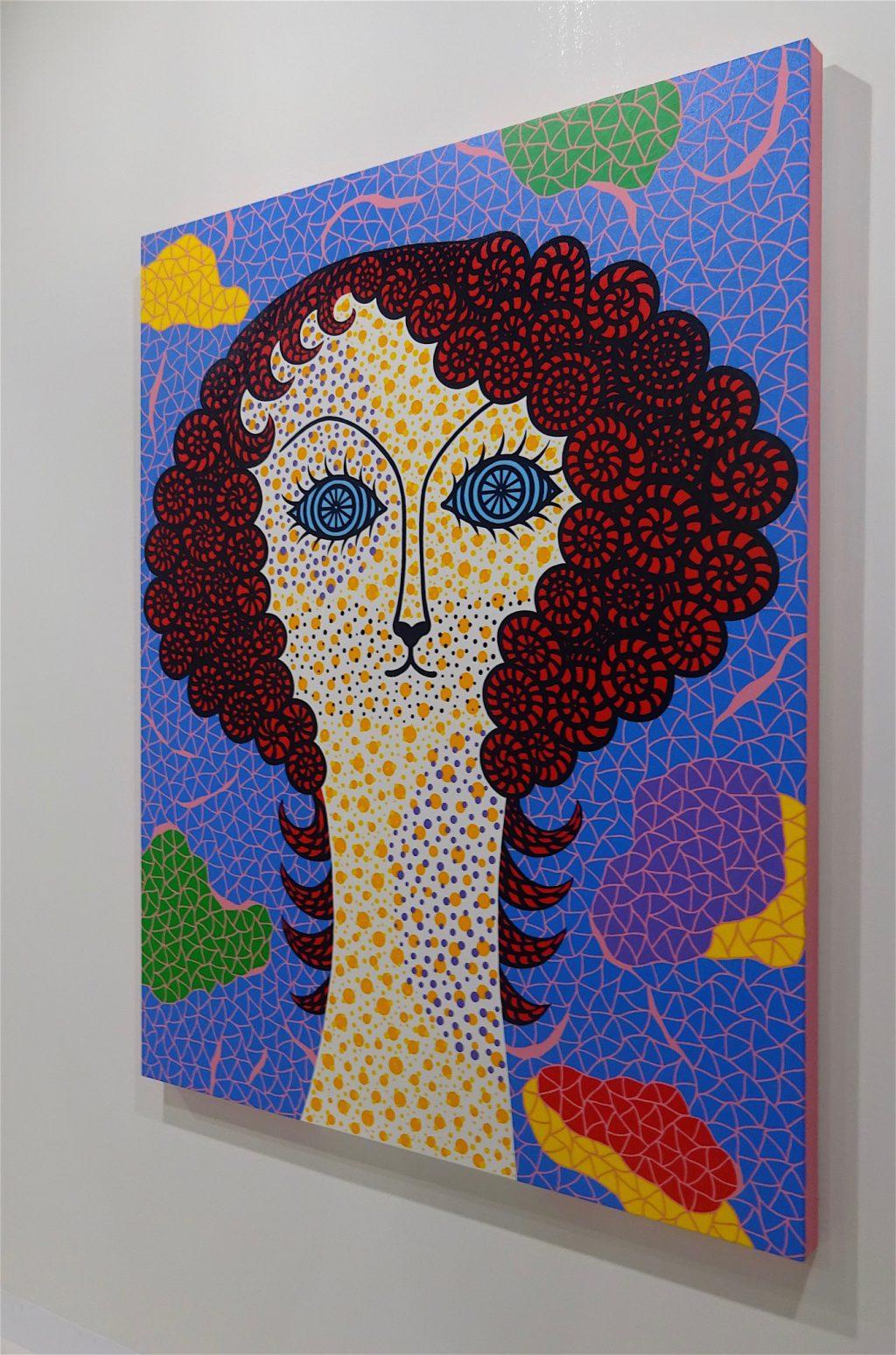 Yayoi Kusama, SELF-PORTRAIT BELROS, 2010, Acrylic on canvas, 162 x 130 cm