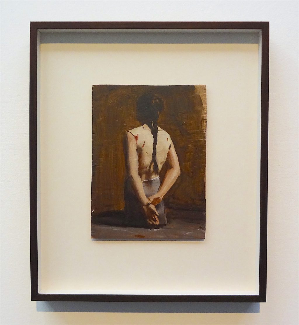 "ミヒャエル・ボレマンス Michaël Borremans ""Automat (III)"" 2008, oil on wood"