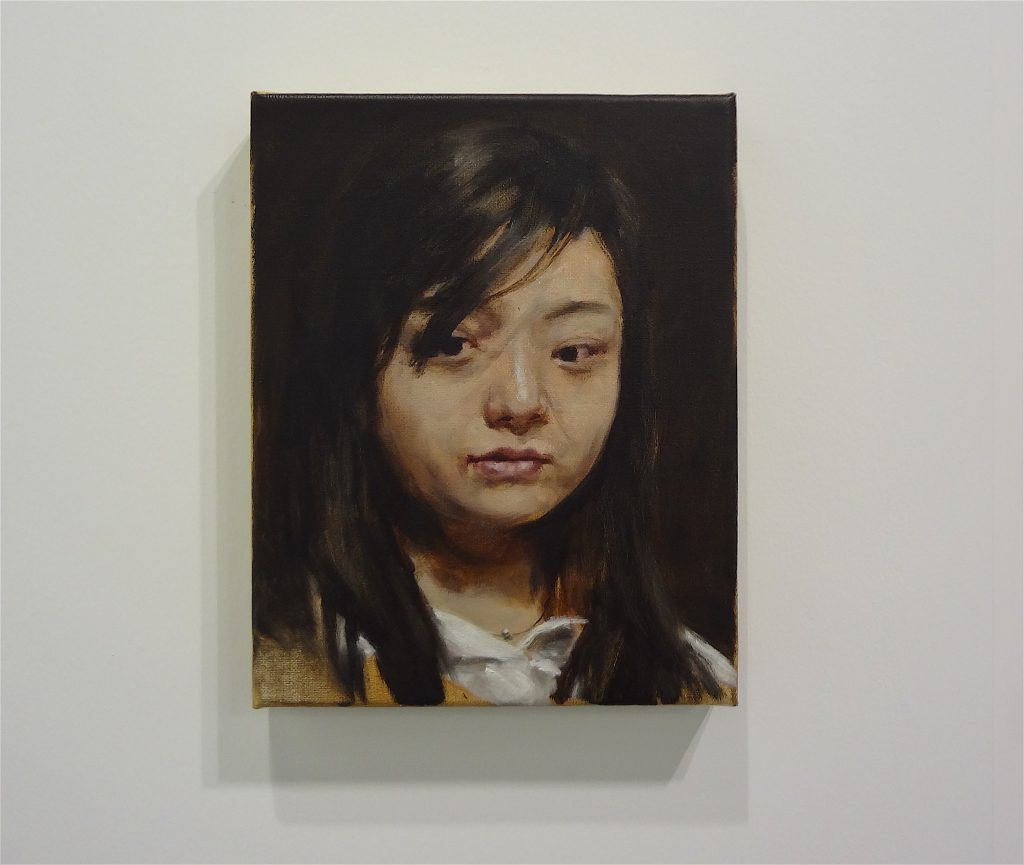 "ミヒャエル・ボレマンス Michaël Borremans ""Chinese woman"" 2008, 29.8 x 24.1 x 3.2 cm, oil on canvas"