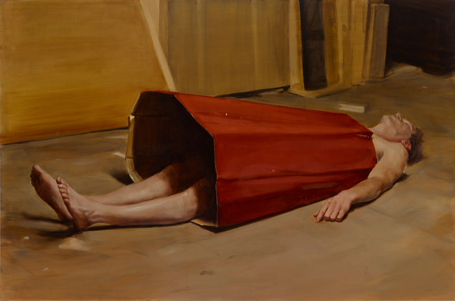 "ミヒャエル・ボレマンス Michaël Borremans ""The Devil's Dress"" 2011, 200 x 300 cm, oil on canvas"