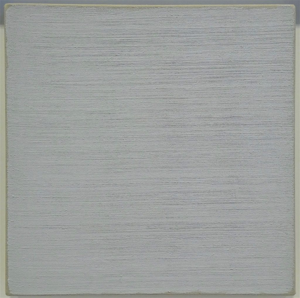 "ロバート・ライマン Robert Ryman ""Untitled"" 1965, Oil on canvas, 25.4 x 25.4 cm"