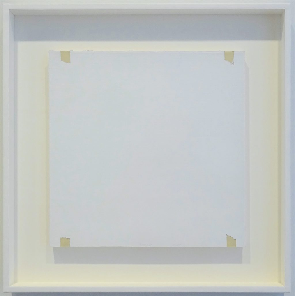 "ロバート・ライマン Robert Ryman ""Untitled"" 1969, Acrylic on mylar, 38 x 38 cm"