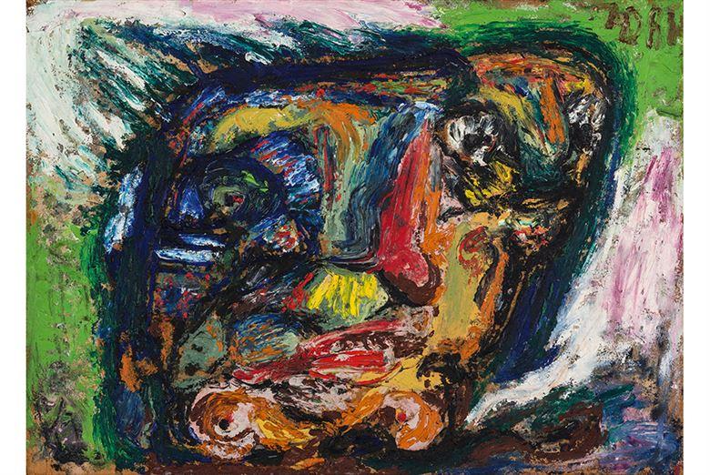 Asger Oluf Untitled 1960-63 oil on fiberboard 50 x 70 cm