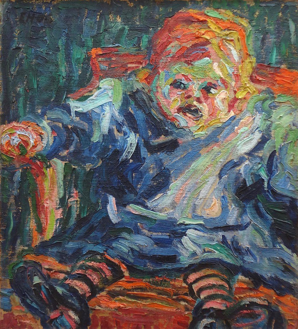 """Erich Heckel """"Sitzendes Kind"""" 1906"""