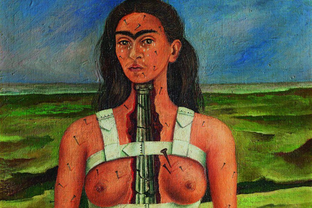 Frida Kahlo The Broken Column 1944, detail