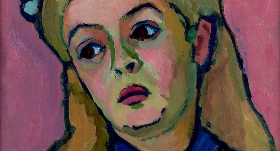 "Gabriele Münter ""Head of a Young Girl,"" 1908 detail"
