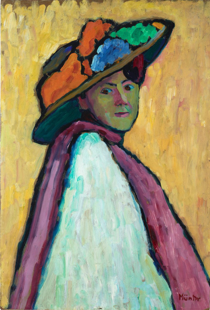 """Gabriele Münter """"Portrait of Marianne von Werefkin"""" 1909"""