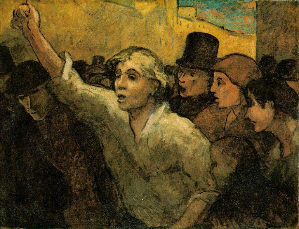 """Honoré Daumier """"The Uprising"""" 1848"""
