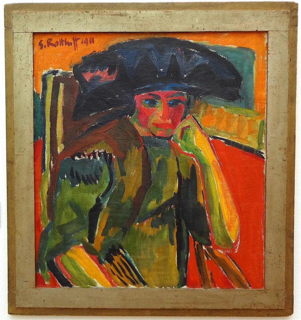 """Karl Schmidt-Rottluff """"Bildnis Rosa Schapire"""" 1911"""