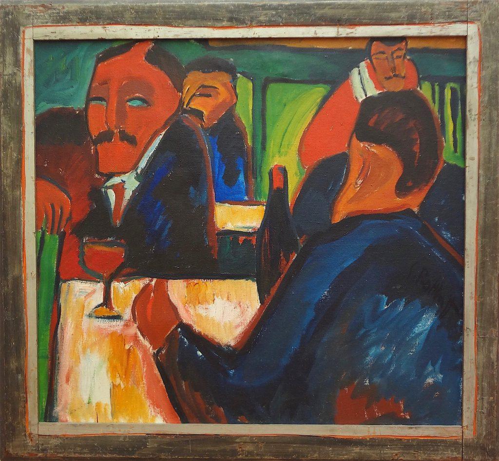 """Karl Schmidt-Rottluff """"Weinstube"""" 1913"""