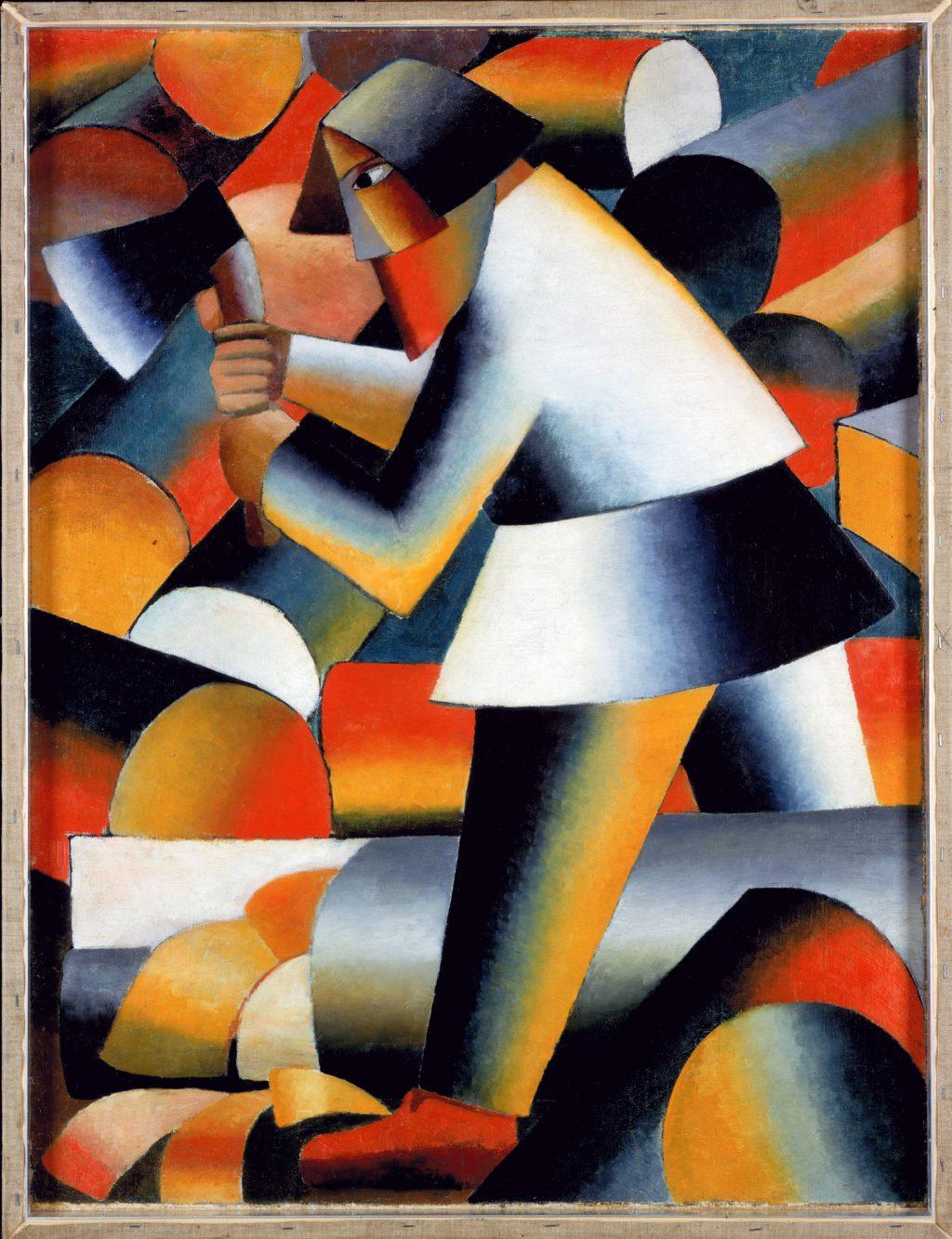 Kazimir Malevich Der Holzfäller 1912-3