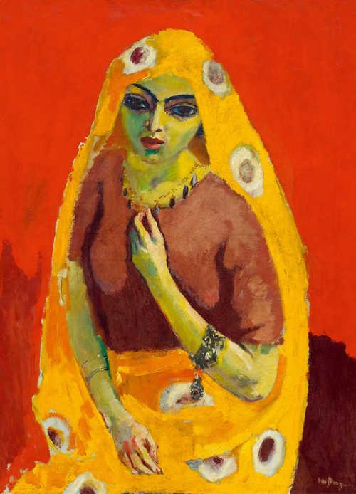 """Kees Van Dongen """"Rouge et Jaune (L'Egyptienne)"""" 1910-11"""