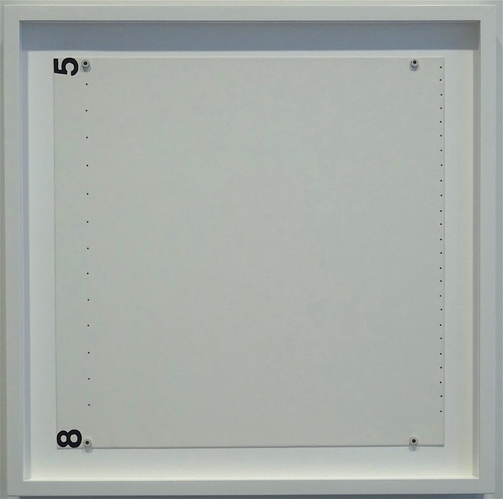 "Robert Ryman ""Section"" 1985, Oil on aluminum, 40.6 x 40.6 cm"
