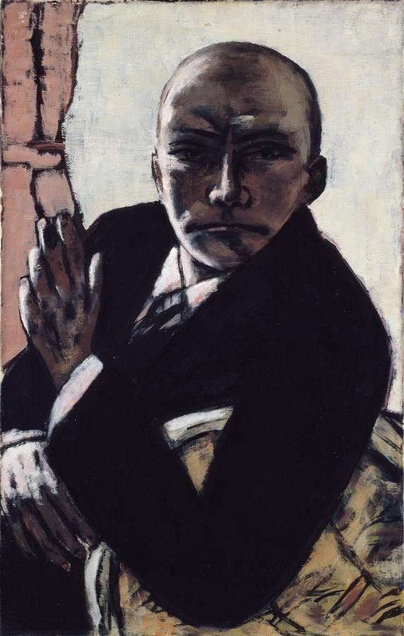 Selbstbildnis in Schwarz (Max Beckmann) 1944