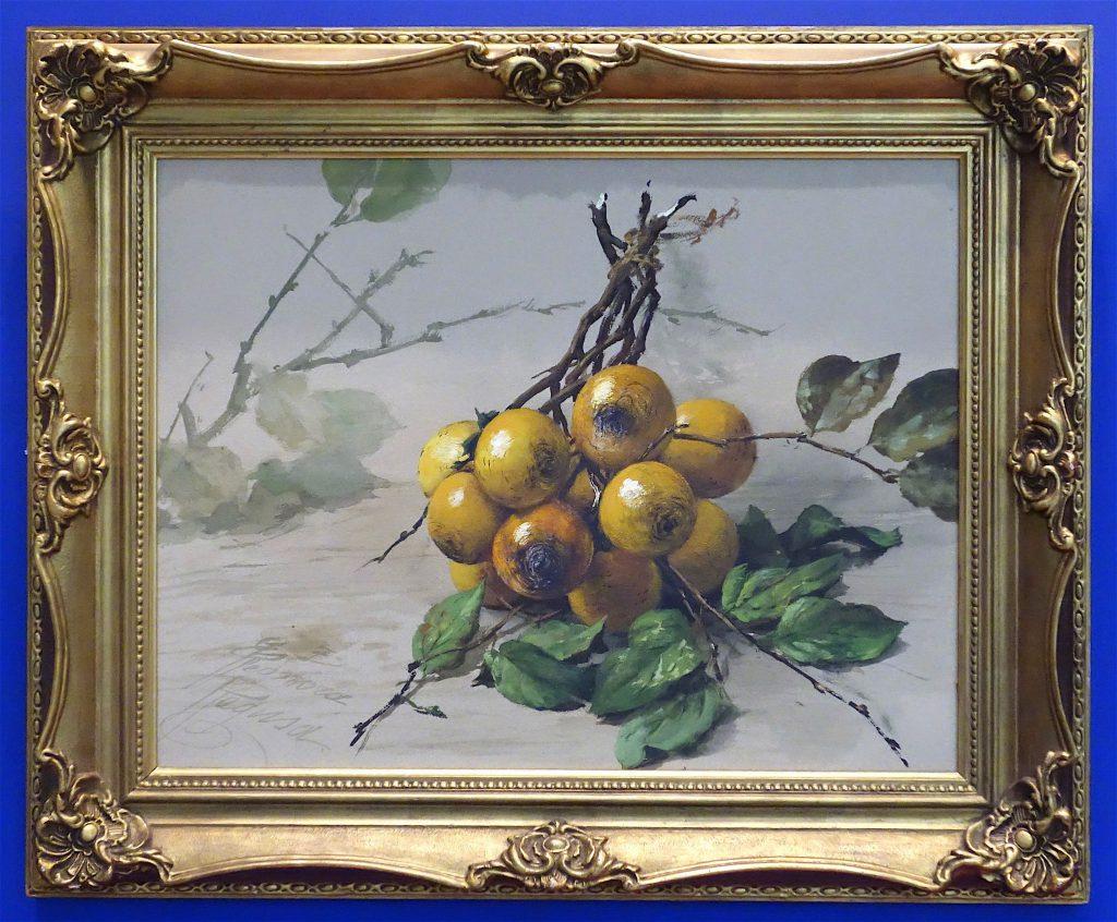 ラグーザ Tama Ragusa Persimmons 柿 Oil on canvas