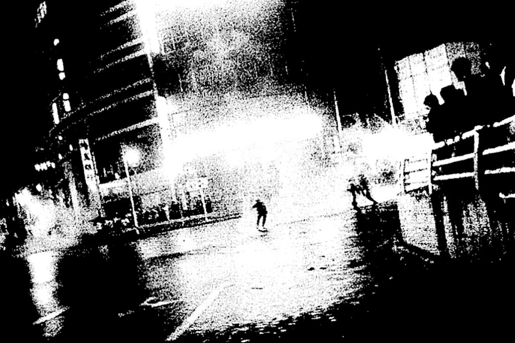 "森山大道 MORIYAMA Daido ""Oct. 21"" 1969, Silkscreen on canvas, printed 2018, 145.9 x 550.0 cm, unique in this format and medium, detail"