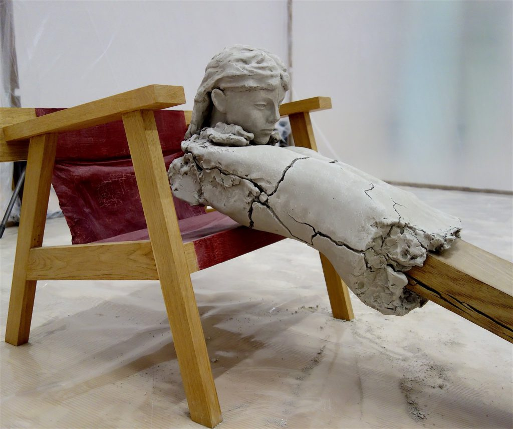 Mark Manders 'Dry Figure on Chair' 2011-15, detail