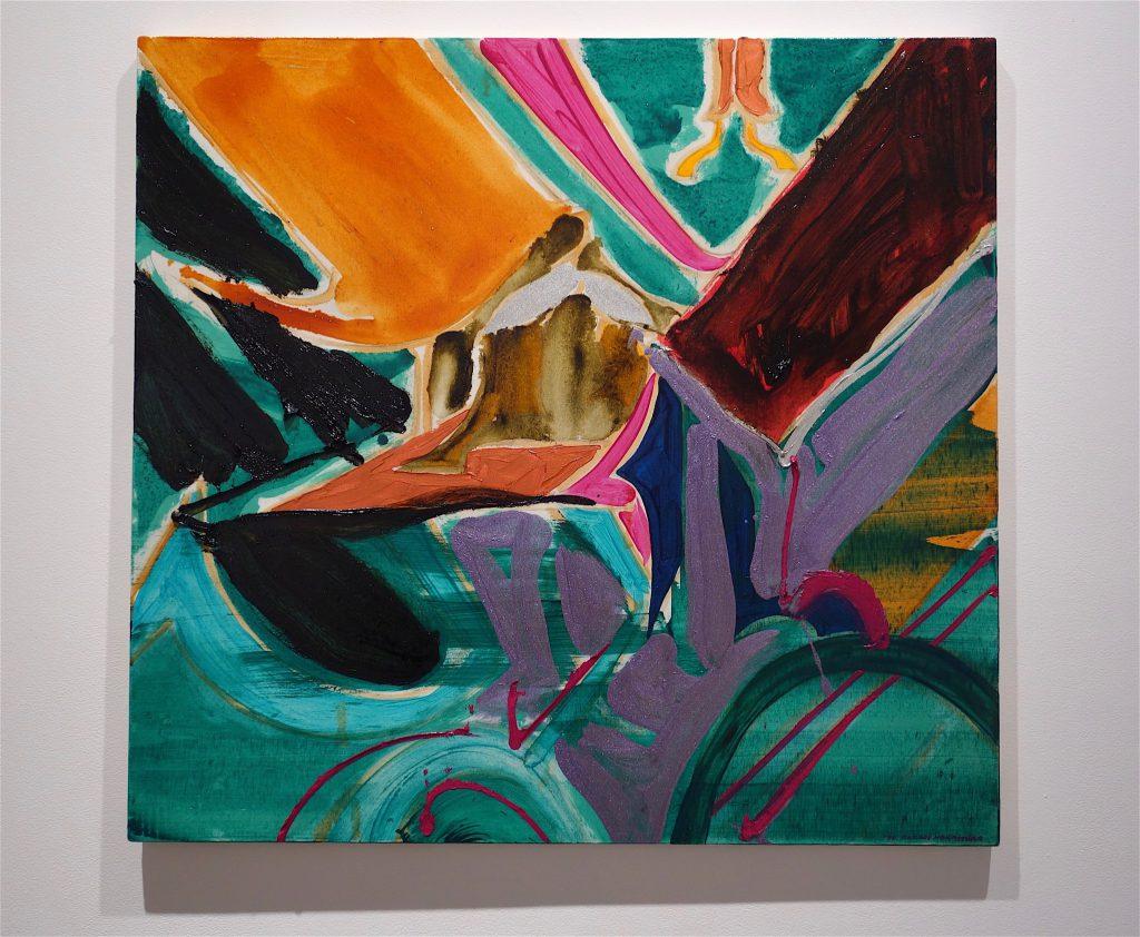 NAKAMURA Kazumi 中村一美 「連差ー破房 (茶とエメラルド)」1994-95年、油彩・綿布、83.2×89.2cm