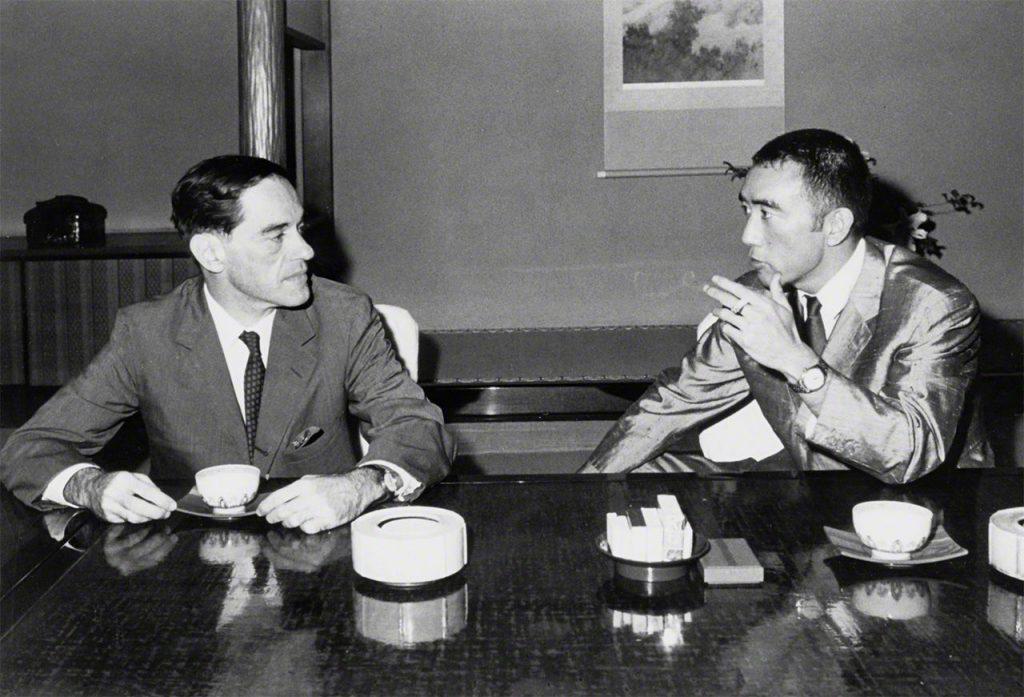 ドナルド・キーン Donald Keene と 三島由紀夫 Yukio Mishima 昭和39 Showa 39