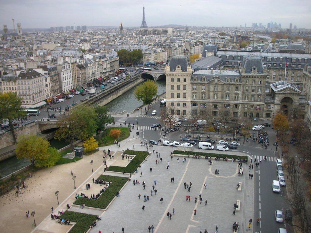 パリの景色 from Cathédrale Notre-Dame de Paris パリ・ノートルダム大聖堂