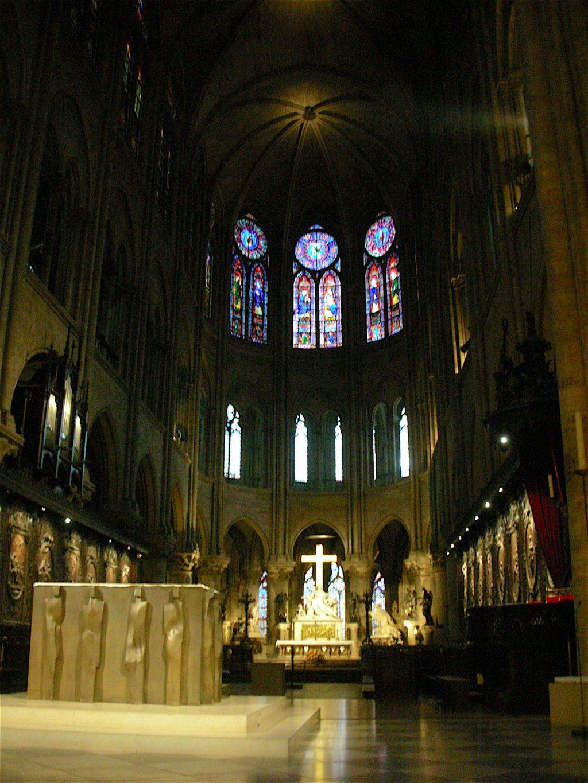 パリ・ノートルダム大聖堂、内部