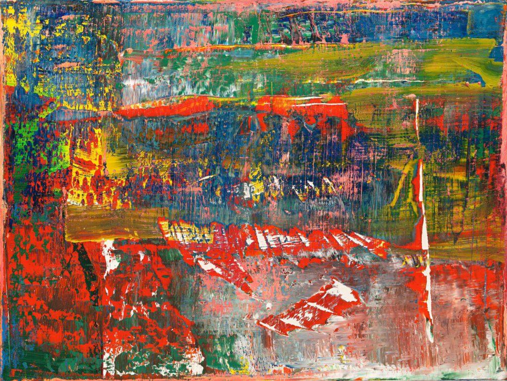 """桶田コレクション展 Gerhard Richter ゲルハルト・リヒター """"Abstract Painting (940-3)"""" 2015, oil on canvas, 92 × 122 cm"""