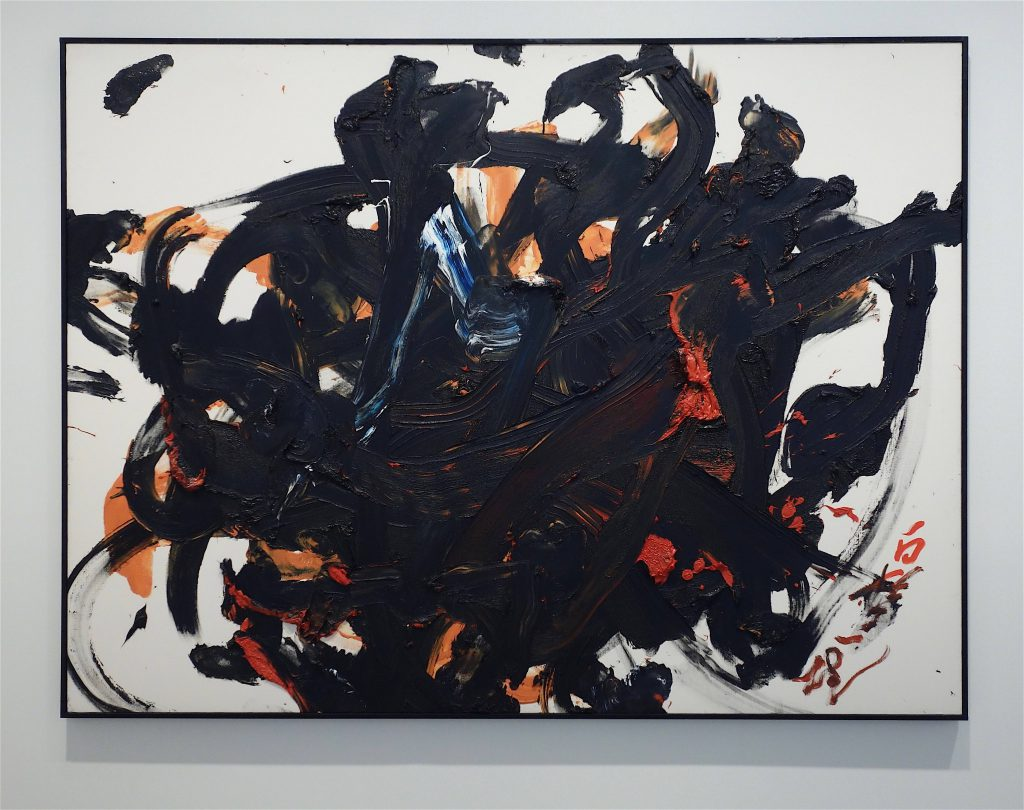 白髪一雄 SHIRAGA Kazuo 'Fuma' 1996, oil on canvas, 194 x 251.1 cm