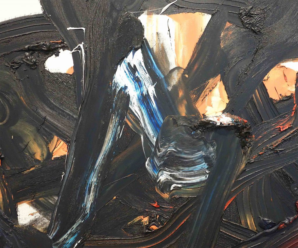 白髪一雄 SHIRAGA Kazuo 'Fuma' 1996, oil on canvas, 194 x 251.1 cm, detail