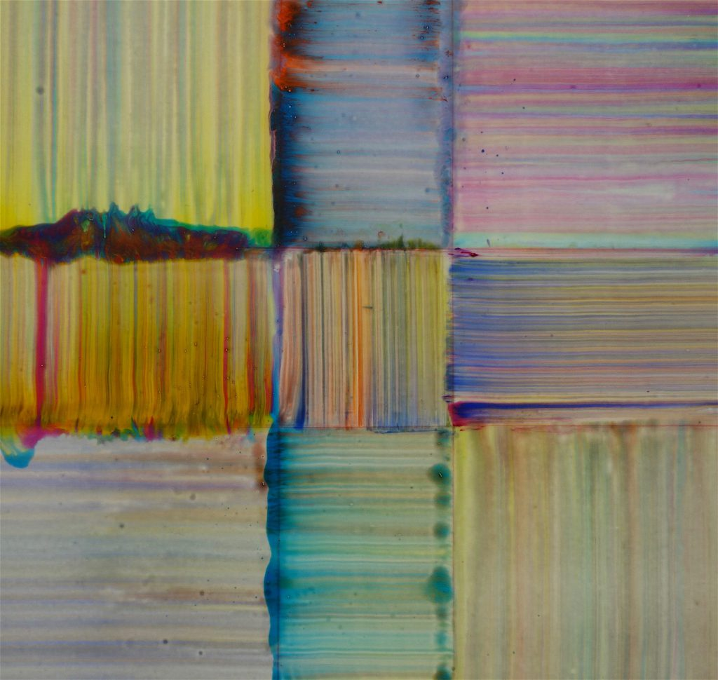 Bernard Frize 'Cerc' 2018, Acrylic and resin on canvas, 180 x 225 cm, detail
