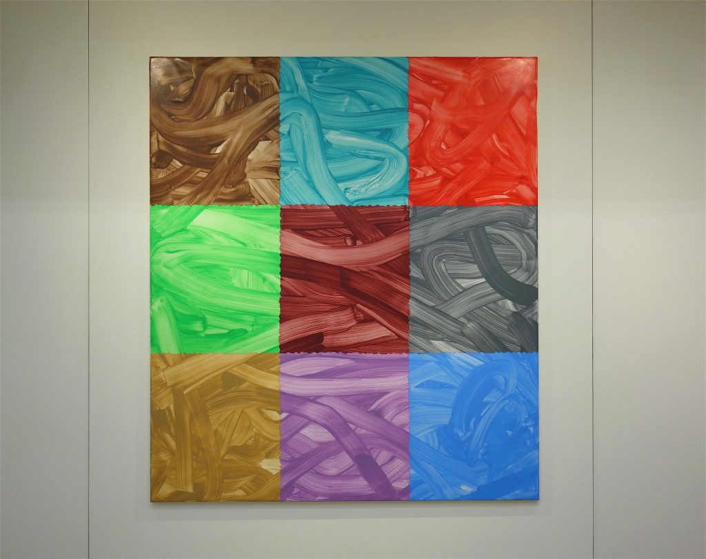 Bernard Frize 'Gliale' 2013, Acrylic and resin on canvas, 160 x 140 cm