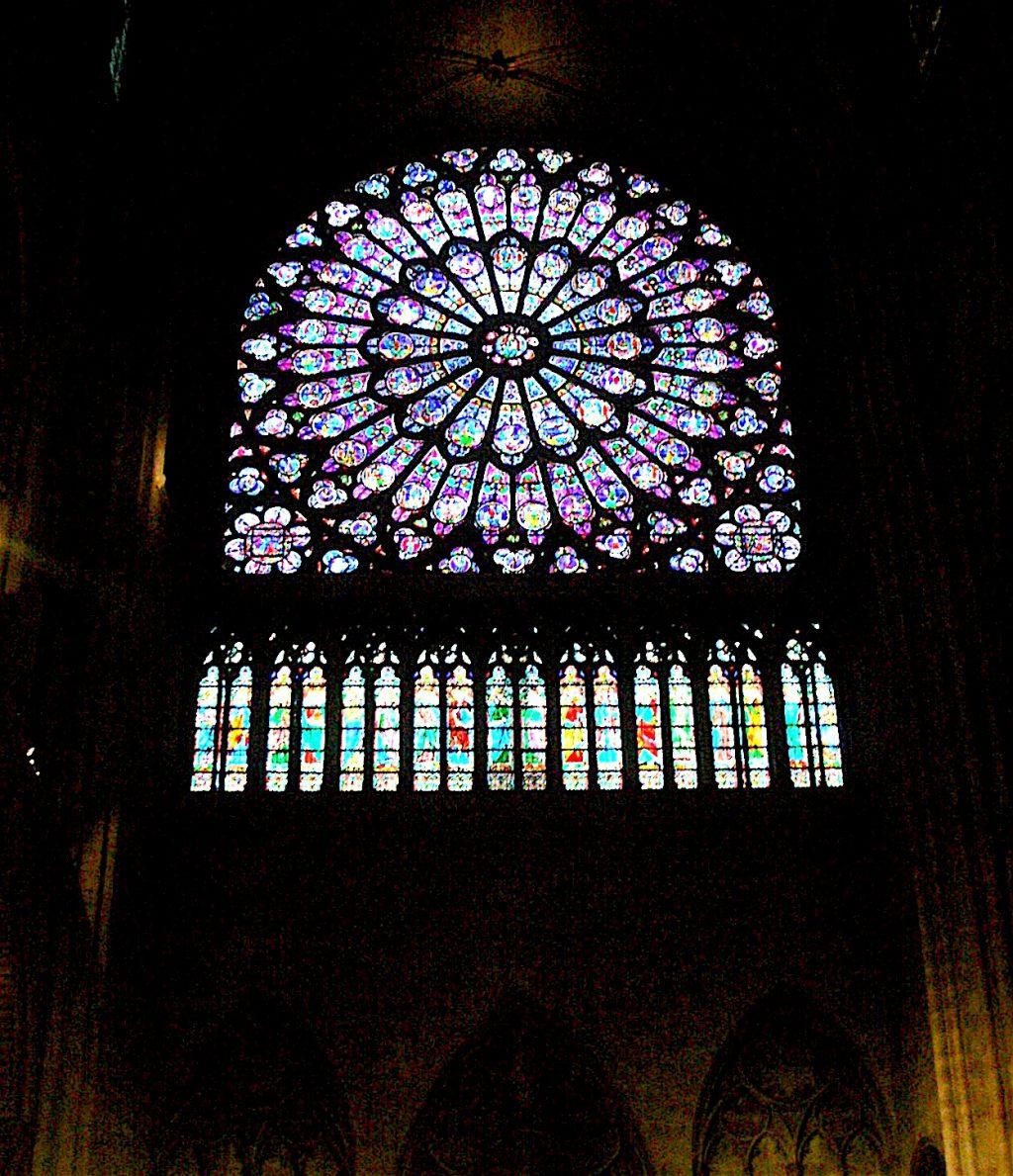 Cathédrale Notre-Dame de Paris パリ・ノートルダム大聖堂、ステンドグラス